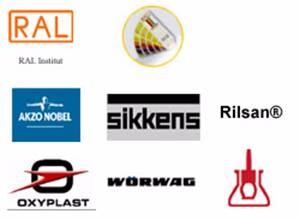Logo's leverenciers en RAL kleuren
